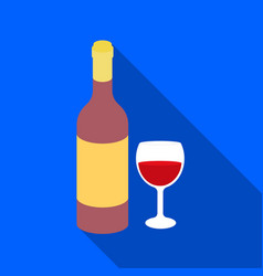 Red wine icon in flat style isolated on white vector