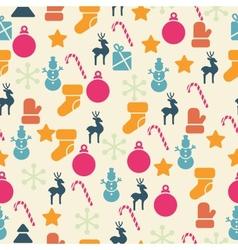 Retro Christmas Seamless Pattern vector image