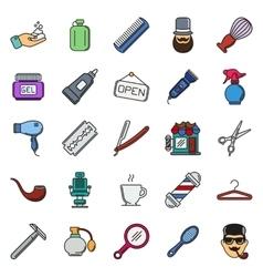 Set of Barber Shop Elements vector image vector image