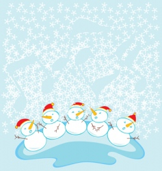 Snow kids choir vector