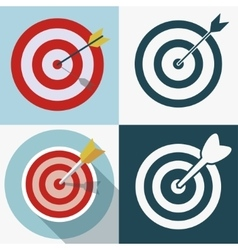 Targeting business icon vector