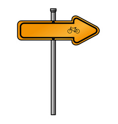 Traffic signal bicycle road vector