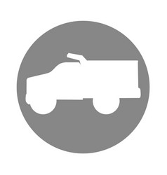 Truck dump silhouette icon vector