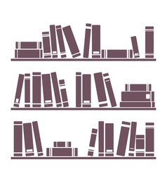 vintage library books on the shelves vector image
