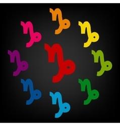 Zodiac sign capricorn zodiac signs set vector