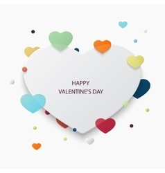 valentines day background Heart icons vector image