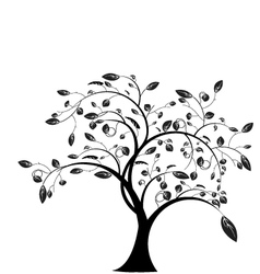 Tree floral vector