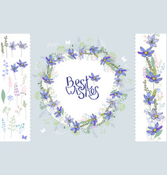 wild flowers hepatica floral elements for your vector image