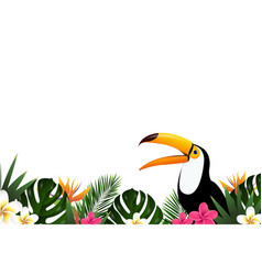 Summer sale banner with toucan vector