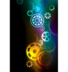 Bright gears vector