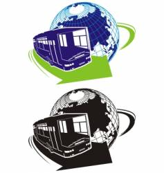 tourist bus logo vector image