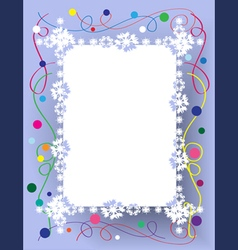Frame christmas vector