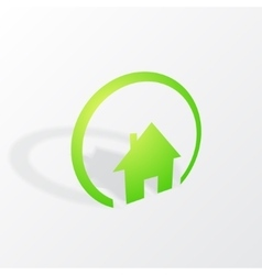 House with shadow vector