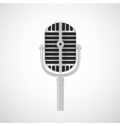 Flat vintage microphone icon vector