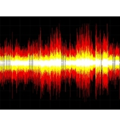 Abstract digital sound wave background vector image vector image