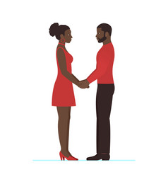 african female and african male couple in love vector image vector image