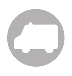Ambulance silhouette isolated icon vector