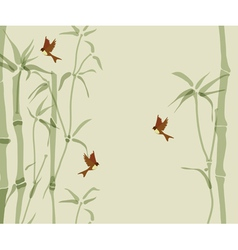 Card with bamboo vector