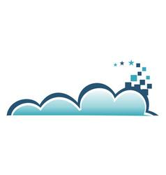 cloud pixel vector image vector image