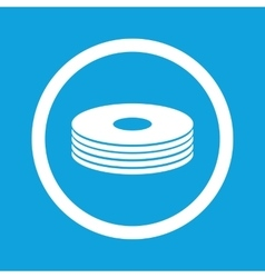 Disc pile sign icon vector image