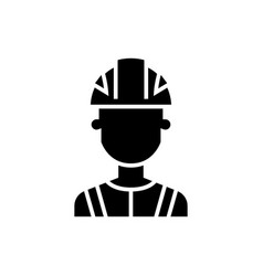 engineer industry icon black vector image vector image