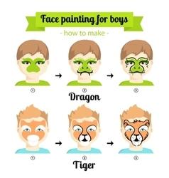 Face painting boys 3 vector