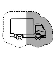 figure trucks trailer icon vector image vector image