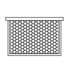 Frame with honeycomb icon in outline style vector image vector image