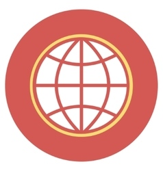 Globe Flat Round Icon vector image vector image