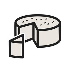 Goat cheese vector
