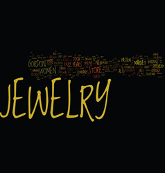 Gordons jewelry text background word cloud concept vector