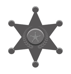 Grayscale police bradge icon design vector