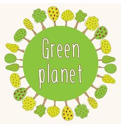Green planet concept vector