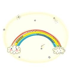 Happy Cartoon Rainbow vector image