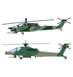 helicopter military equipment icon vector image vector image