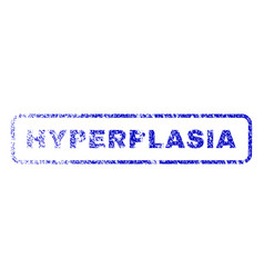 Hyperplasia rubber stamp vector