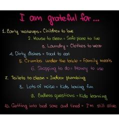 I am grateful for vector