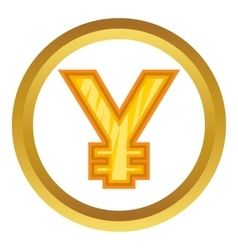 Japanese yen icon vector