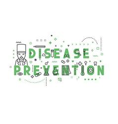 Medicine concept design disease prevention vector image vector image