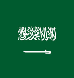 national flag kingdom of saudi arabia vector image