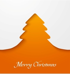 Orange christmas tree applique vector image vector image