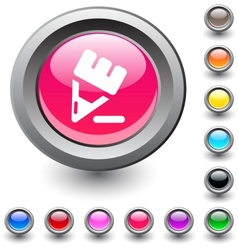 Pencil round button vector image vector image