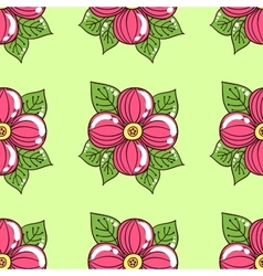 Pink flowers on green vector