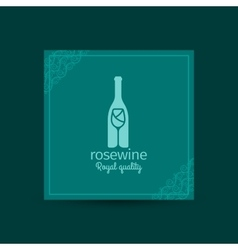 Rosewine royal quality square card vector image