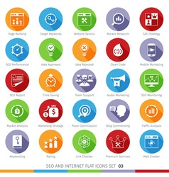 SEO icons set 03F vector image vector image