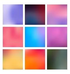 Set Blurred Backgrounds vector image vector image