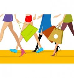 Shopping ladies vector