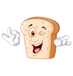 Slice of bread cartoon posing vector