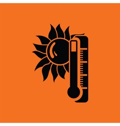 Summer heat icon vector image vector image