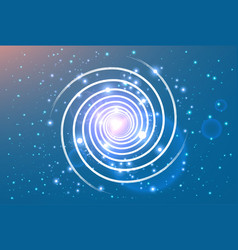 swirl spiral like galaxy with stasrs vector image vector image